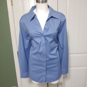 Foxcroft Non-Iron Stretch Hidden Button Up 18W